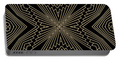 Black And Gold Art Deco Filigree 003 Portable Battery Charger