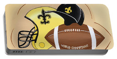Black And Gold Champs Portable Battery Charger
