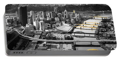Black And Gold Pittsburgh  Portable Battery Charger