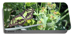 Black And Green Butterfly Portable Battery Charger