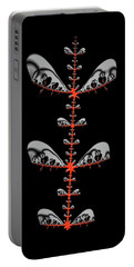 Portable Battery Charger featuring the digital art Black And Red Abstract Fractal by Matthias Hauser