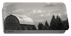 Portable Battery Charger featuring the photograph Black And White Barn by Joann Copeland-Paul