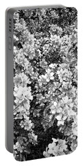 Portable Battery Charger featuring the photograph Black And White Beautiful Blossoms by Aimee L Maher Photography and Art Visit ALMGallerydotcom