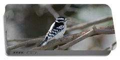 Black And White Bird Portable Battery Charger