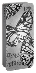 Black And White Butterflies. Portable Battery Charger
