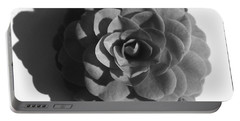 Camellia In Black And White Portable Battery Charger