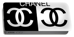 Black And White Chanel 2 Portable Battery Charger