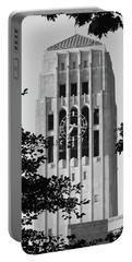 Black And White Clock Tower Portable Battery Charger