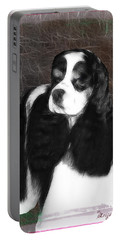 Portable Battery Charger featuring the photograph Black And White Cookie by EricaMaxine  Price