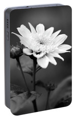 Portable Battery Charger featuring the photograph Black And White Coreopsis Flower by Christina Rollo