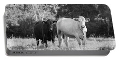 Black And White Cows Portable Battery Charger