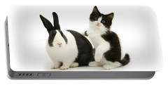 Black And White Double Act Portable Battery Charger