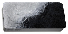 Black And White Fibers - Yin And Yang Portable Battery Charger