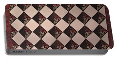 Black And White Checkered Floor Cloth Portable Battery Charger