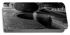 Black And White Fountain Portable Battery Charger