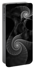 Black And White Fractal 080810 Portable Battery Charger