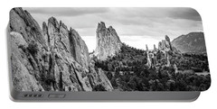 Black And White Garden Of The Gods Portable Battery Charger