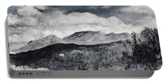Black And White Landscape Portable Battery Charger