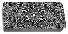 Black And White Mandala 34 Portable Battery Charger