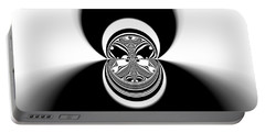 Portable Battery Charger featuring the digital art Black And White Mandala 35 by Robert Thalmeier