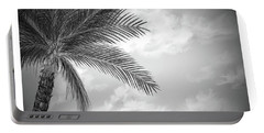 Black And White Palm Portable Battery Charger