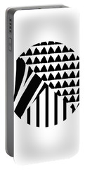 Black And White Patchwork Pattern Ball- Art By Linda Woods Portable Battery Charger