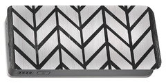 Black And White Quilt Portable Battery Charger