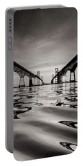 Portable Battery Charger featuring the photograph Black And White Reflections by Jennifer Casey