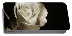 Black And White Rose 5534.01 Portable Battery Charger by M K  Miller