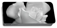 Portable Battery Charger featuring the photograph Black And White Rose Flower by Jennie Marie Schell