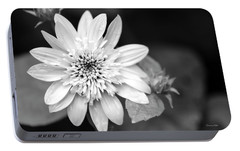 Portable Battery Charger featuring the photograph Black And White Sunrise Coreopsis by Christina Rollo