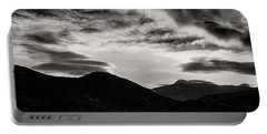 Portable Battery Charger featuring the photograph Black And White Sunrise by Joseph Hollingsworth