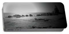 Black And White Sunset In Spain Portable Battery Charger