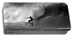 Black And White Surfer Portable Battery Charger