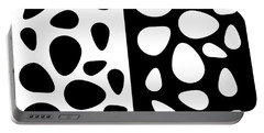 Black And White Teardrops Portable Battery Charger
