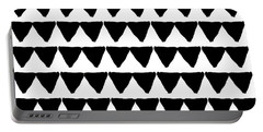 Black And White Triangles- Art By Linda Woods Portable Battery Charger