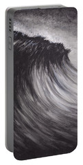 Black And White Wave Guam Portable Battery Charger