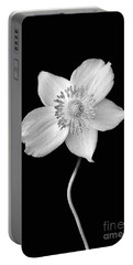 Black And White Wildflower Portable Battery Charger