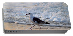 Portable Battery Charger featuring the photograph Black-backed Gull by  Newwwman