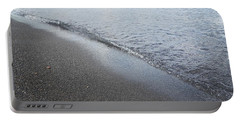 Black Beach Shore Portable Battery Charger