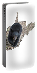 Black Bear Coming Close Portable Battery Charger
