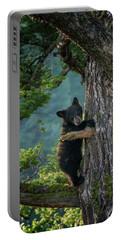 Black Bear Cub At Yellowstone Np_grk6560_05212018-2 Portable Battery Charger