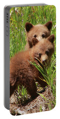 Black Bear Cubs Portable Battery Charger