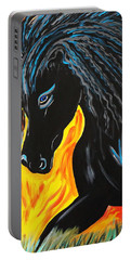 Black Beauty Portable Battery Charger by Nora Shepley