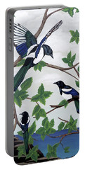 Black Billed Magpies Portable Battery Charger