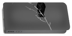 Black Bird On A Branch Portable Battery Charger