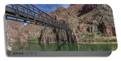 Black Bridge Over The Colorado River At Bottom Of Grand Canyon Portable Battery Charger