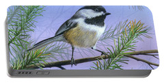 Black Cap Chickadee Portable Battery Charger