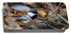 Black-capped Chickadee 0571 Portable Battery Charger by Michael Peychich