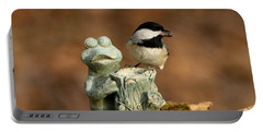 Black-capped Chickadee And Frog Portable Battery Charger